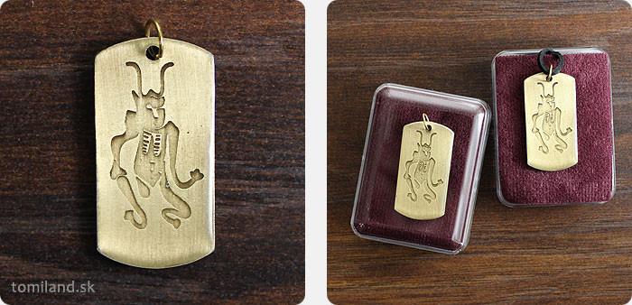 Čínsky ochranný amulet.
