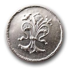 Strieborná minca.